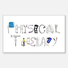 PT at Work Sticker (Rectangle)