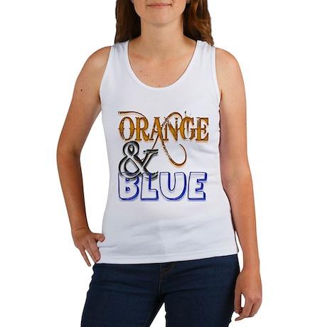 Orange and Blue Florida Gator Women's Tank Top