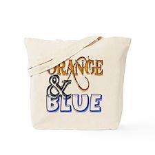 Orange and Blue Florida Gator Tote Bag