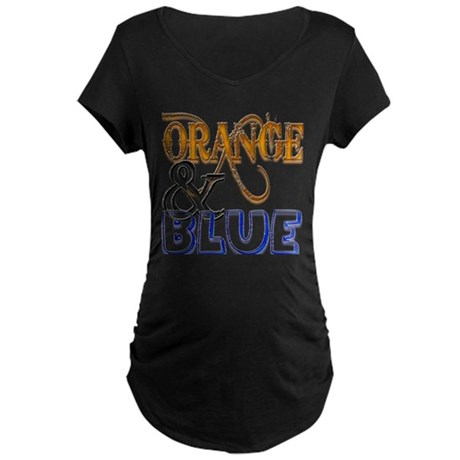 Orange and Blue Florida Gator Maternity Dark T-Shi