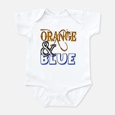 Orange and Blue Florida Gator Infant Bodysuit