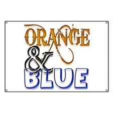 Orange and Blue Florida Gator Banner