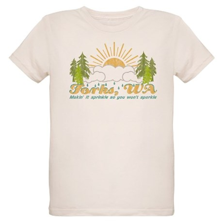 Forks, WA Vintage Organic Kids T-Shirt