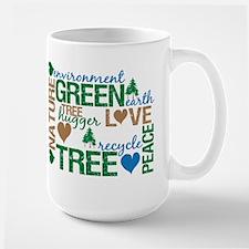 Live Green Montage Large Mug