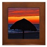 Beach Glow Fading Framed Tile