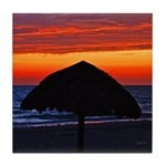 Beach Glow Fading Art Tile