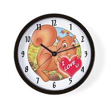 "Skippy's ""I LOVE U"" Wall Clock"