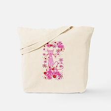 Fancy Pink Cat Tote Bag
