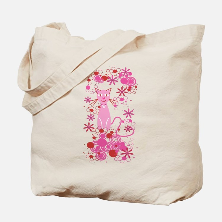 Fancy Pink Cat Tote Bag