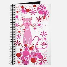 Fancy Pink Cat Journal
