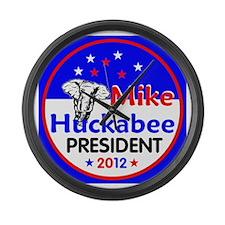 Huckabee 2012 Large Wall Clock
