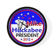 Huckabee 2012 Wall Clock