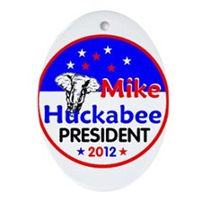 Huckabee 2012 Oval Ornament