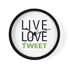 Live Love Tweet Wall Clock
