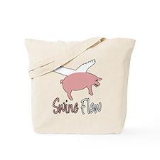 Swine Flew Tote Bag