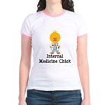 Internal Medicine Chick Jr. Ringer T-Shirt