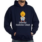 Internal Medicine Chick Hoodie (dark)