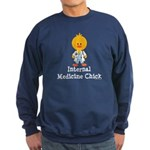 Internal Medicine Chick Sweatshirt (dark)