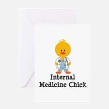 Internal Medicine Chick Greeting Card