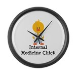 Internal Medicine Chick Large Wall Clock