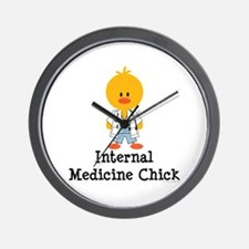 Internal Medicine Chick Wall Clock