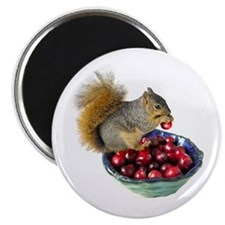 Squirrel with Cranberries Magnet