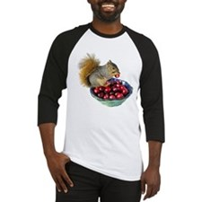 Squirrel with Cranberries Baseball Jersey