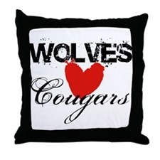 Wolves <3 Cougars Throw Pillow