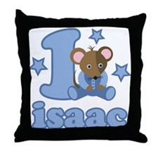 Isaac 1st Birthday Throw Pillow