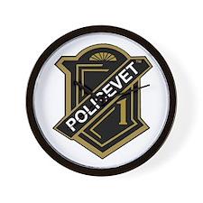 Policevets Shield Wall Clock