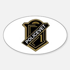Policevets Shield Oval Decal