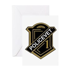 Policevets Shield Greeting Card