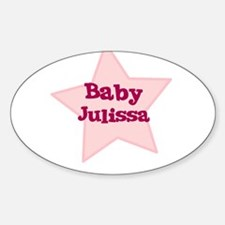 Baby Julissa Oval Decal