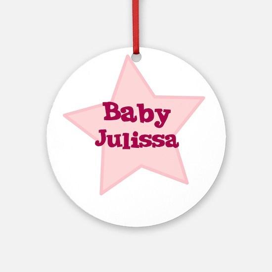 Baby Julissa Ornament (Round)