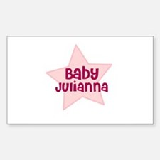 Baby Julianna Rectangle Decal