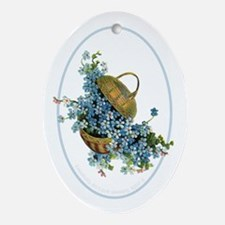 Forget-Me-Nots Oval Ornament