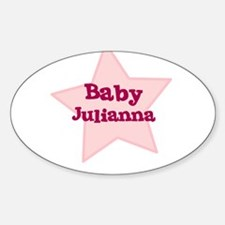 Baby Julianna Oval Decal