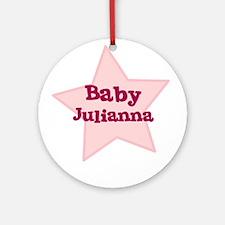 Baby Julianna Ornament (Round)
