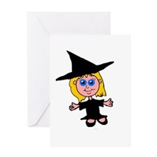 Little Witch Greeting Card