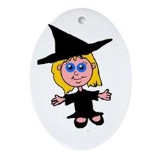 Little Witch Oval Ornament