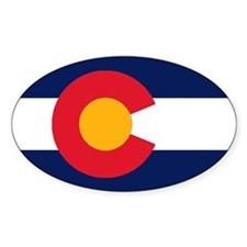 Colorado Flag Original Oval Bumper Stickers