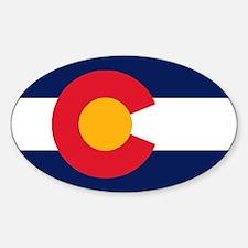 Colorado Flag Original Oval Bumper Stickers