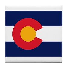 Colorado Flag Original Tile Coaster