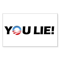 You Lie! Rectangle Decal