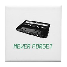 Never Forget Mix Tapes Tile Coaster