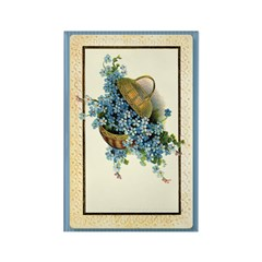 Forget-Me-Nots Rectangle Magnet (10 pack)