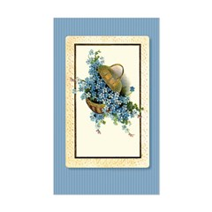 Forget-Me-Nots Rectangle Decal