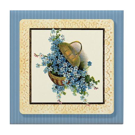 Forget-Me-Nots Tile Coaster