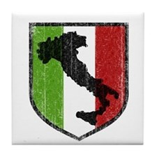 Vintage Italian Boot Tile Coaster