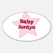Baby Jordyn Oval Decal
